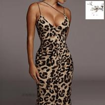 Dress Winter of 2019 Snake Print, leopard print S,M,L longuette singleton  Sleeveless commute middle-waisted other Socket Pencil skirt Others 18-24 years old Print, open back D9C1632A 91% (inclusive) - 95% (inclusive) other