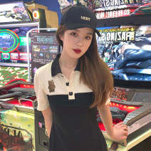 Fashion suit Summer 2021 S M L XL Black dress 18-25 years old Mu zhiou M483 Other 100% Pure e-commerce (online only)
