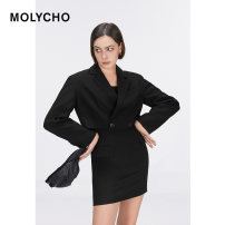 Fashion suit Spring 2021 XS S M Black suit black dress 25-35 years old MOLY CHO MY211036 Polyester 100% Pure e-commerce (online only)