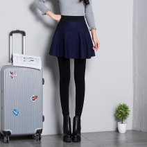 Casual pants Black twist skirt, black skirt, plaid skirt, blue skirt, white pleated skirt, grey pleated skirt Average size Winter of 2019 trousers High waist thickening Other / other