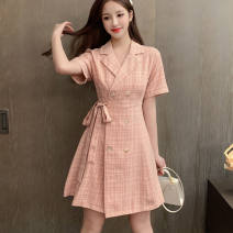 Square Dance Dress L,XL,2XL,3XL,4XL,5XL Pink, khaki, collection plus purchase priority other Short sleeve other other other Short skirt other female other other