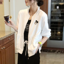 short coat Spring 2021 S M L XL White grey Long sleeves routine routine singleton  easy commute routine Crew neck zipper Cartoon animation 30-34 years old Chongyan 96% and above other Other 100%