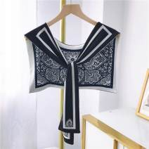 Scarf / silk scarf / Shawl polyester Spring and autumn, summer female Shawl multi-function Korean version Students, teenagers Geometric pattern printing Other A49750