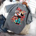 T-shirt M L XL XXL Summer 2020 Short sleeve Crew neck easy Medium length routine commute polyester fiber 86% (inclusive) -95% (inclusive) 18-24 years old Korean version youth Cartoon animation animal design letters Luminous shadows / fine wind SABZ69430 Exclusive payment of tmall