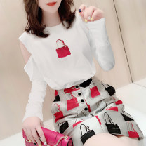 Fashion suit Summer 2021 S M L XL white 25-35 years old Miheng Polyester 85% polyamide 15% Pure e-commerce (online only)