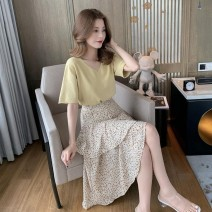 Fashion suit Summer 2020 S M L XL Yellow top apricot Skirt Pink Top pink skirt white top black skirt Xiuyou XY2226 Other 100% Pure e-commerce (online only)