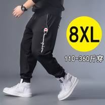 Casual pants Family of fat friends Youth fashion XL,2XL,3XL,4XL,5XL,6XL,7XL,8XL routine trousers motion easy get shot Four seasons Large size tide 2019 Little feet Sports pants Pocket decoration No iron treatment cotton cotton Fashion brand 50% (inclusive) - 69% (inclusive)