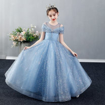 Children's dress Long style with short front and long back female 90cm 100cm 110cm 120cm 130cm 140cm 150cm 160cm Rose full dress SLF201002 other Polyester 100% Autumn 2020 princess