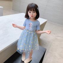 Dress Blue yellow female Chih Han Tong Shang 80cm 90cm 100cm 110cm 120cm 130cm 140cm Other 100% summer Korean version Short sleeve Cartoon animation cotton other ZHTS-ASQ Summer 2020 12 months, 6 months, 9 months, 18 months, 2 years, 3 years, 4 years, 5 years, 6 years Chinese Mainland