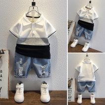 suit 80cm 90cm 100cm 110cm 120cm 130cm male summer Korean version Short sleeve + pants 2 pieces Thin money No model Socket nothing Solid color other children Giving presents at school Class B Other 100% Summer 2021 Chinese Mainland Zhejiang Province Huzhou City