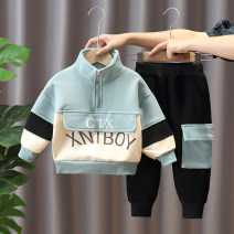 suit 90cm 100cm 110cm 120cm 130cm 140cm male spring and autumn leisure time Long sleeve + pants 2 pieces routine No model Socket nothing other other children Giving presents at school other Cotton 93% polyurethane elastic fiber (spandex) 7% Autumn 2020 Chinese Mainland Zhejiang Province Huzhou City