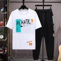 suit Aoyiluo M L XL 2XL 3XL male summer Korean version Short sleeve + pants 2 pieces Thin money No model Socket nothing Cartoon animation children birthday AYL-2021033101 Summer 2021 9, 10, 11, 12, 13, 14 Chinese Mainland