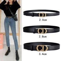 Belt / belt / chain Double skin leather 2.0cm-for skirt, 2.8cm-classic and versatile, 3.4cm-with jeans female belt Simplicity Single loop Smooth button Leather decoration Glossy surface 3.4cm alloy alone 90cm,95cm,100cm,105cm,110cm,115cm