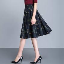 skirt Spring 2021 S. M, l, XL, 2XL, custom size Middle-skirt High waist A-line skirt 30% and below printing
