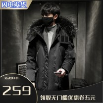 Down Jackets Black (artificial fur collar) dark green (artificial fur collar) beibai (artificial fur collar) black (real raccoon dog hair) dark green (real raccoon dog hair) beibai (real raccoon dog hair) Pyroxene White duck down S M L XL 2XL 3XL Youth fashion Other leisure Medium length thickening