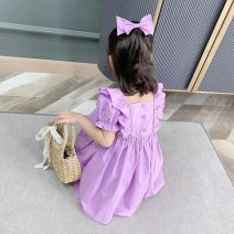Dress Purple [short sleeves] pay attention to the same model in the store, and purple [long sleeves] pay attention to the same model in the store female Other / other Other 100% summer Korean version Short sleeve Solid color other A-line skirt O77185 other 3 months Chinese Mainland