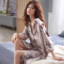 Nightdress Dream of Dali 1602 1601 1603 1604 1605 1606 160(M) 165(L) 170(XL) 175(XXL) Sweet three quarter sleeve pajamas longuette summer Cartoon animation youth Small lapel cotton printing More than 95% Knitted cotton fabric Summer 2020 Cotton 100% Pure e-commerce (online only)
