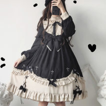 Dress Winter of 2019 S M L Middle-skirt singleton  Long sleeves Sweet Crew neck middle-waisted other Socket other other Others 18-24 years old Type X Nell More than 95% other other Other 100% Lolita Pure e-commerce (online only)