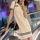 Dress Summer 2021 Black and white S M L XL Mid length dress singleton  Short sleeve Sweet Crew neck middle-waisted Solid color Socket other routine Others 18-24 years old Yimengzi (clothing) 201010E45 More than 95% other Other 100% Pure e-commerce (online only)