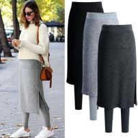 Leggings Winter 2020 Light grey and thin, dark grey and thin, black and thin, light grey and velvet, dark grey and velvet, black and velvet S,M,L,XL,2XL,3XL,4XL,5XL Plush trousers 18-24 years old 51% (inclusive) - 70% (inclusive)