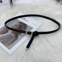 Belt / belt / chain Pu (artificial leather) female belt Versatile Single loop Youth Pin buckle Patent leather alloy Manlek 105cm Spring and summer 2011