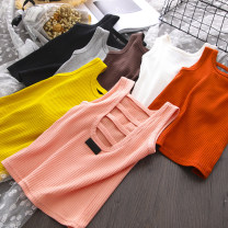 Vest sling White, yellow, gray, black, pink, deep coffee, medium coffee other 90cm(7),100cm(9),110cm(11),120cm(13),130cm(15) summer Other / other female Seven, six, five, four, three, two