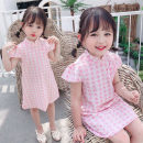 Dress summer leisure time female Other / other Other 100% Seven, six, five, four, three, two af65317 Pink The recommended height is 90cm-100cm for size 7, 100cm-110cm for size 9, 110cm-120cm for size 11, 120cm-130cm for size 13 and 130cm-140cm for size 15