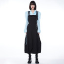 Dress Spring 2021 black S, M longuette singleton  street High waist Solid color camisole Type A 00212003017SSA 51% (inclusive) - 70% (inclusive) cotton