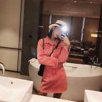 Fashion suit Autumn of 2019 S, M Suit (coat + skirt) 18-25 years old 30159/30160 cotton