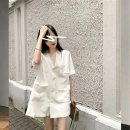 Dress Summer 2020 Black white dress S M L XL Middle-skirt singleton  Short sleeve commute tailored collar Loose waist Solid color Socket One pace skirt routine Others 25-29 years old Type H Luxurious and charming Korean version More than 95% other other Other 100% Pure e-commerce (online only)