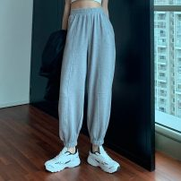 Women's large Spring 2021 Light grey S [75-85 Jin] m [85-95 Jin] l [95-110 Jin] XL [110-130 Jin] 2XL [130-150 Jin] 3XL [150-170 Jin] 4XL [170-200 Jin] trousers singleton  commute easy moderate Solid color Korean version Mikedo 18-24 years old Other 100% Pure e-commerce (online only) trousers
