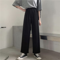 Women's large Spring 2021 black M [85-95 Jin] l [95-110 Jin] XL [110-130 Jin] 2XL [130-150 Jin] trousers singleton  commute easy moderate Solid color Korean version MKD-XW5510 Mikedo 18-24 years old 81% (inclusive) - 90% (inclusive) Other 100% Pure e-commerce (online only) Ninth pants