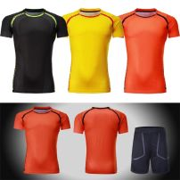 Badminton wear Men's yellow suit, men's orange suit, men's black suit, women's yellow suit, women's orange suit, women's black suit, men's single yellow, men's single orange, men's single black, women's single yellow, women's single orange, women's single black female M. L, XL, XXL, XXXL, larger