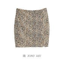 skirt Summer 2020 XS,S,M Leopard Print Short skirt High waist Leopard Print 51% (inclusive) - 70% (inclusive) polyester fiber