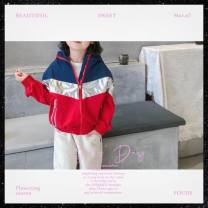 Plain coat Other / other currency 110cm,120cm,130cm,140cm,150cm Red, green, white, blue spring leisure time Zipper shirt There are models in the real shooting routine No detachable cap Cartoon animation cotton stand collar