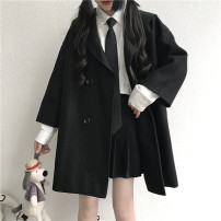 suit Spring 2020 Black coat Average size Long sleeves routine Self cultivation tailored collar Single breasted routine Solid color JK jacket 18-24 years old 96% and above other Jianbai Other 100% Exclusive payment of tmall