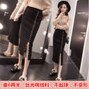 skirt Spring of 2019 S,M,L,XL,2XL Black short, black long Other / other