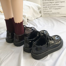 Low top shoes 35,36,37,38,39 Other / other Round head PU Flat bottom Low heel (1-3cm) Deep mouth Artificial short plush Winter of 2018 Frenulum Korean version Sewing shoes Youth (18-40 years old) Solid color rubber Single shoes Shallow mouth JNW-C05-21031