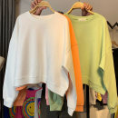 Women's large Autumn 2020 White yellow green black orange pink light pink M (recommended 80-110 kg) l (recommended 110-140 kg) XL (recommended 140-170 kg) XXL (recommended 170-200 kg) Sweater / sweater singleton  commute easy thin Socket Long sleeves Solid color Crew neck printing and dyeing routine