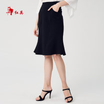 skirt Summer of 2019 160/68A/S,165/72A/M,170/76A/L,170/80A/XL Black A1, blue B1 Middle-skirt Versatile Natural waist 25-29 years old R1927402 71% (inclusive) - 80% (inclusive) Vivian Liu / Hongying Viscose Lotus leaf edge