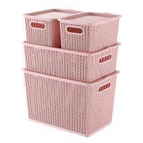 Storage box Plastic New rattan weaving fund 1kg Muchun Underwear and sweater public Macarone Nordic style bedroom no