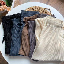 Casual pants Black, off white, khaki, haze blue, elephant grey You can wear 80-140 Jin Summer 2020 trousers Straight pants commute 18-24 years old other spandex