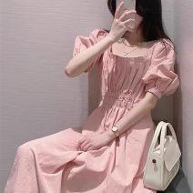 glove polyester fiber Pink dress S,M,L,XL