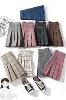 skirt Summer of 2018 XS,S,M,L,XL,XXL,XXXL Off white, white, purple, khaki, malachite blue, black gray, light coffee, white gray, rose pink, (1858 Khaki), (1858 black and white), (1858 coffee), beige, size recommendation [please take a picture, random delivery] Short skirt commute High waist lattice