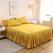Bed skirt 120x200cm single bed skirt clearance, 150x200cm single bed skirt clearance, 180x200cm single bed skirt clearance, 200x220cm single bed skirt clearance, 180x220cm single bed skirt clearance cotton Other / other Solid color P27149