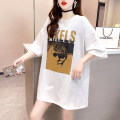 T-shirt White black M L XL XXL Spring 2021 Short sleeve Crew neck easy Medium length routine commute polyester fiber 51% (inclusive) - 70% (inclusive) 18-24 years old Korean version originality Cartoon letters Mi Han 3D printing Polyester 65% Cotton 30% polyurethane elastic fiber (spandex) 5%