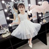 Dress female Bad little treasure Cotton 100% summer Korean version Suspender skirt / vest skirt cotton A-line skirt lattice Class A 7, 8, 14, 3, 13, 11, 5, 4, 10, 9, 12, 6 Light blue, noble white, half size smaller 150cm,140cm,130cm,120cm,110cm