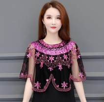 short coat Summer 2020 Average size Sapphire blue, rose red, beige, light pink, shell white, pure black Sleeveless have cash less than that is registered in the accounts Thin money singleton  easy Versatile Crew neck other 35-39 years old Other / other 96% and above Lace polyester fiber