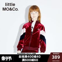 Jacket / leather Little MO&CO. female claret other Europe and America spring and autumn routine nothing Zipper shirt There are models in the real shooting Class C Other 100% Autumn of 2019