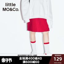 skirt Big red black Little MO&CO. female Polyester 100% spring and autumn skirt Europe and America Solid color Pleats other Spring of 2019